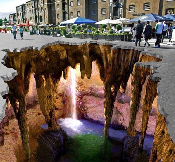 3D Sidwalk Art work in Isreal, awesome!