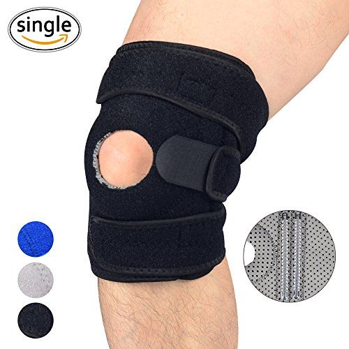 UncleHu Knee Brace Support for Sports, Open-Patella Stabilizer with Adjustable Strapping & Extra-Thick Breathable Neoprene Sleeve, Relieves ACL, LCL, MCL, Arthritis, Meniscus Tear, Tendonitis Pain