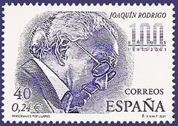 Joaquin Rodrigo - on a postage stamp