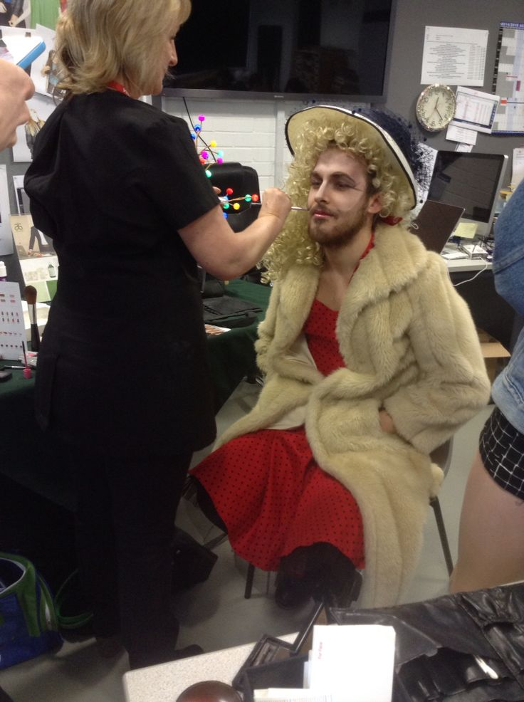 Taken by Fatheha Begum AS Photography of Helen Dowdle (professonal makeup artist) making up Cameron Chandler A2 student.