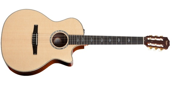 Taylor 814CE-N Grand Auditorium Classical Acoustic Electric wCase at AMS