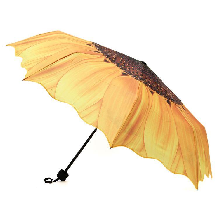 Лучшая Цена Лучшая Реклама Lasy Девушки Женщин Портативный Подсолнечник Складной Путешествия Дождь Зонтик Зонтик Подходит Для Наружного