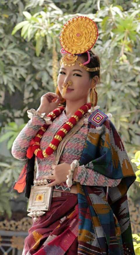 80 best wedding nepali images on pinterest bridal for Wedding dress nepali culture