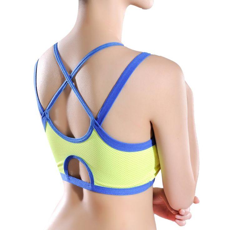 #AliExpress Women Bandage Sport Yoga Bra Workout Fitness Tank Top Stretch Seamless Racerback (32703445486) #SuperDeals