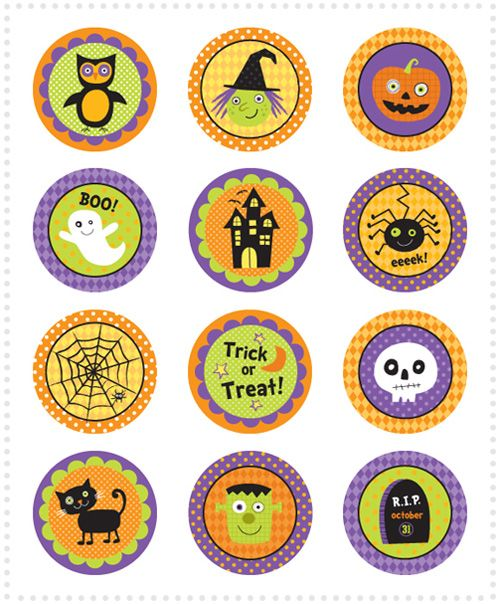 """We Love to Illustrate"" have made not one, not two but seven sets of halloween cupcake toppers and shared them all on their blog for free download"