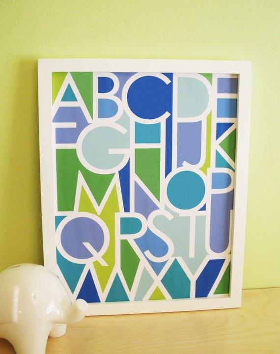 abc art: Baby Boy Rooms, Negative Spaces, Spaces Alphabet, Abc Art, Blue 8X10, Abc Prints, Baby Boys Room, Alphabet Blue, Alphabet Prints