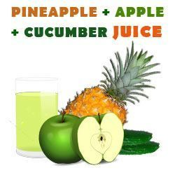 Pineapple, Apple and Cucumber Juice Recipe for Better Skin http://ifocushealth.com/pineapple-juice-benefits/