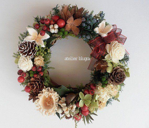 八ヶ岳〜(新作)里山の木の実Wreath5 - アトリエ ブルグラ