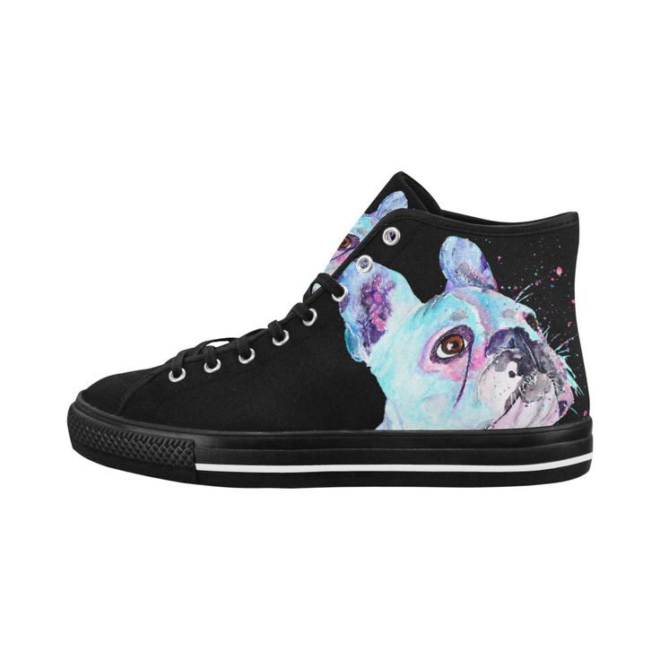 Come on share - french bulldog high top women's shoes