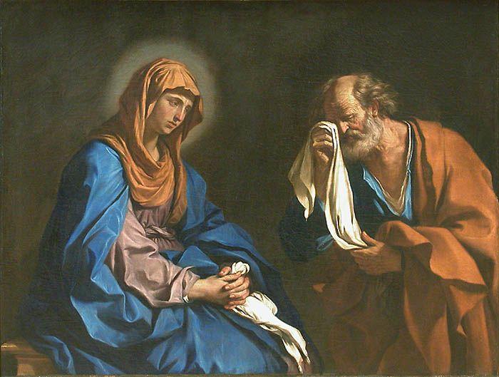D tail de saint pierre pleurant devant la vierge le guerchin louvre l 39 - Les tissus de st pierre ...