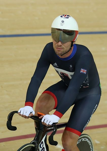 Mark Cavendish of Great Britain reacts after being eliminated in the Elimination…