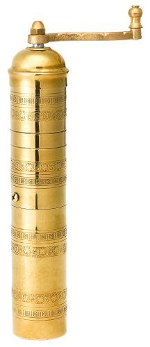 Pepper Mill Imports Traditional Coffee/Spice Mill, Brass, 11″