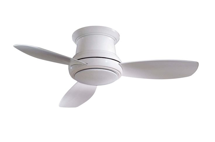 Minka-Aire F518-WH 44-inch Concept II Flush Mount Ceiling Fan, White with White Blades - - Amazon.com