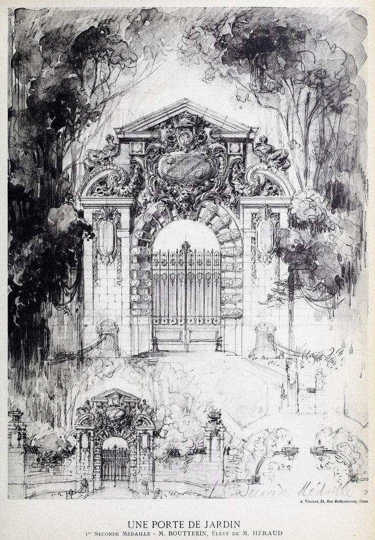 Design For A Garden Gate France Sketchbook DrawingsDrawing SketchesPencil DrawingsArchitecture