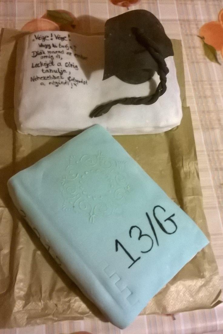 Könyv torta ballagásra