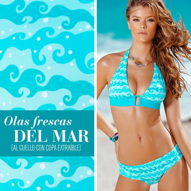 ¡El color del #mar te hará ver sexy e impactante! #VeranoLeonisa2013 #PicanteColorCurvas