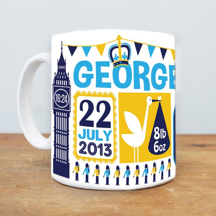 Royal Prince George Mug by Susan Taylor - available from Hunkydory Home