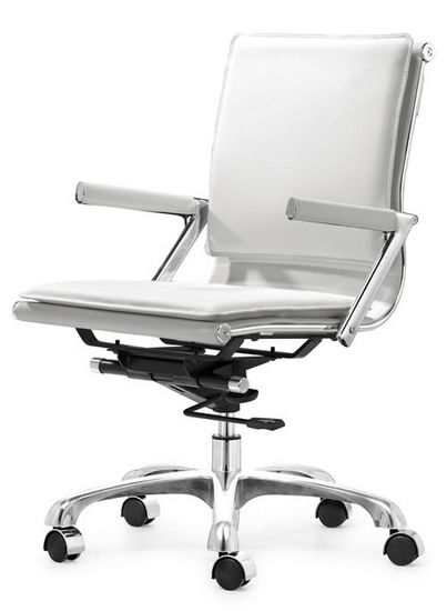 Add a desk chair.  The Maverick Office Chair - White from Urban Barn is a unique home decor item. Urban Barn carries a variety of Sale Furniture and other  products furnishings.
