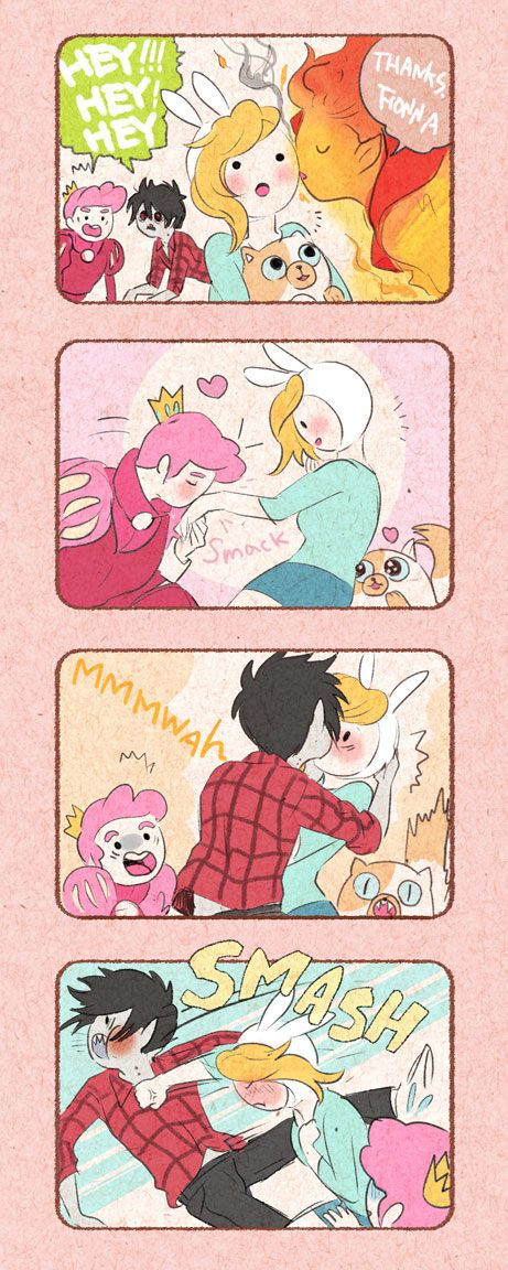 Prince des flammes, Prince Chewing-gum, Marshall Lee, Fiona et Cake