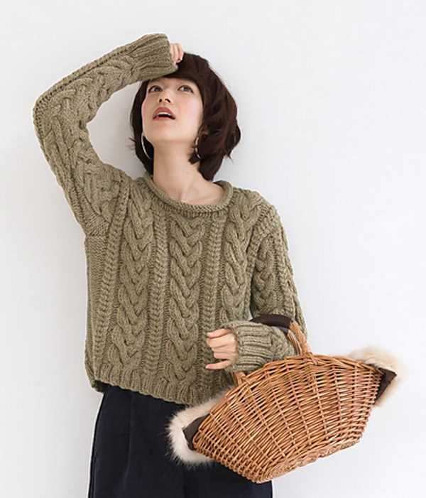 Basic Aran Sweater Free Knitting Pattern