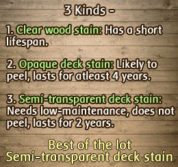 Decking stain options