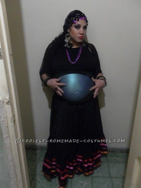 original costume for a pregnant woman crystal ball belly - Pregnant Costumes Halloween