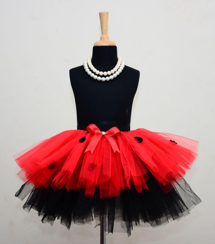 Lady Bug Tutu Skirt. #babygirls #stylemylo #onlineshopping #tutu #kidsfashion #kids #partywear #designearwear