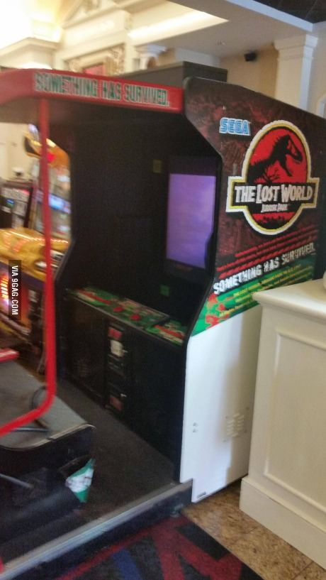 Local movie theater brought this classic game back for Jurassic World
