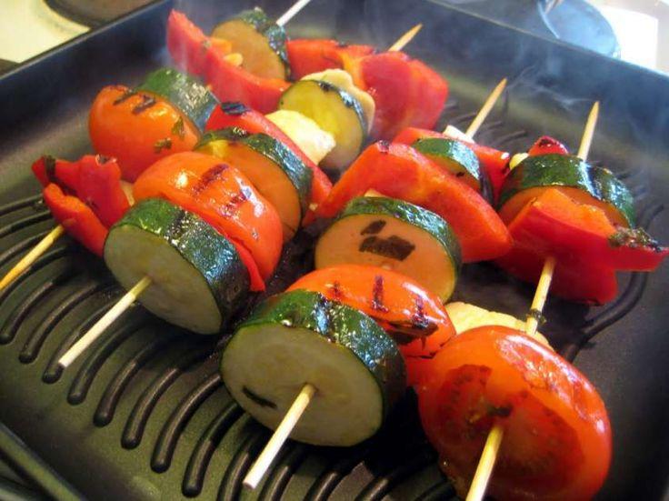 Ricette spiedini di verdure - Cottura alla griglia