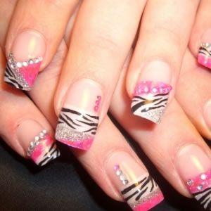 Nail Designs Acrylic Nails: Nails Art Ideas, Pink Nails, Acrylics Nails Design, Naildesign, Nails Polish Design, Zebras Nails, Nails Art Design, Prints Nails, Gorgeous Nails
