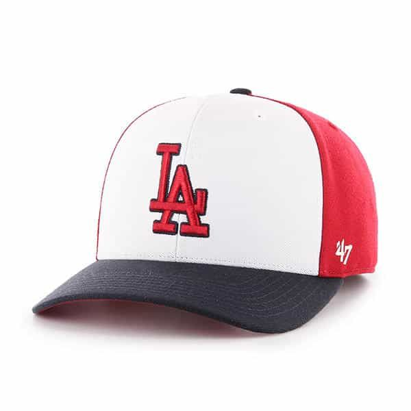 biggest discount save up to 80% detailed pictures Los Angeles Dodgers 47 Brand Red White Navy MVP Adjustable Hat ...