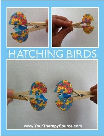 Occupational Therapy Idea / Pin of the Week  Adorable for Spring!  This got over 300 repins the first time around -  Pinned by @PediaStaff – Please Visit http://ht.ly/63sNt for all our pediatric therapy pins