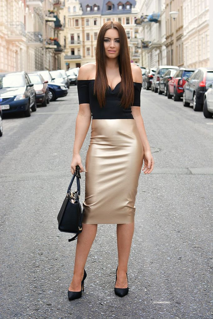 Pin on Leather fashions. in 2019 | Bleistiftrock ...