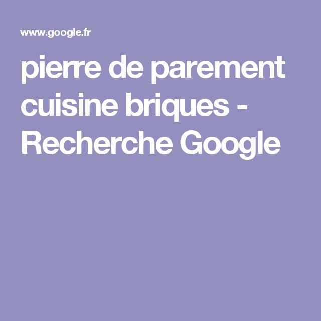pierre de parement cuisine briques - Recherche Google