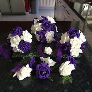 Cadburys Purple Wedding Flowers In Home Furniture Diy Decor Dried Artificial
