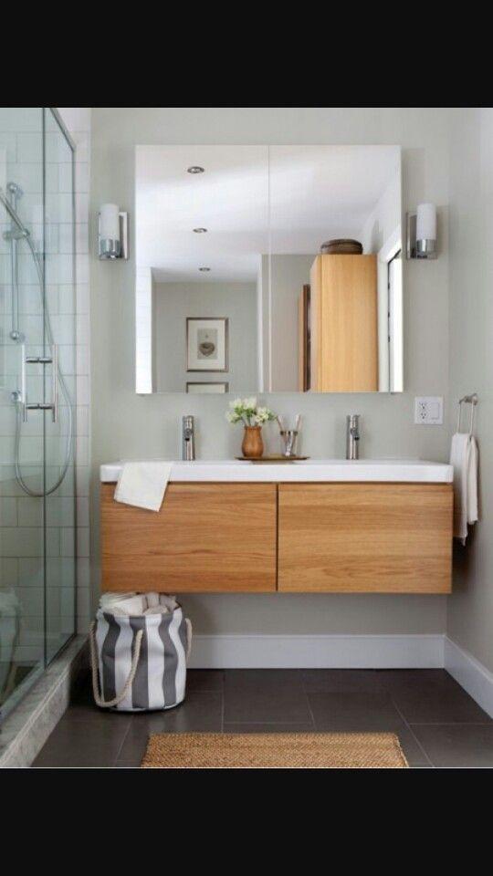 Salle de bain : grande vasque ... alternative à deux ...