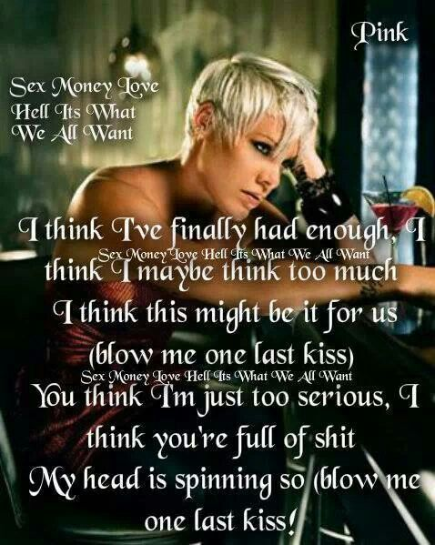 Pink is an Amazing Artist ..i love this CD. . This is so profound.. 2012