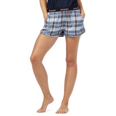 Iris & Edie Blue checked pyjama shorts | Debenhams