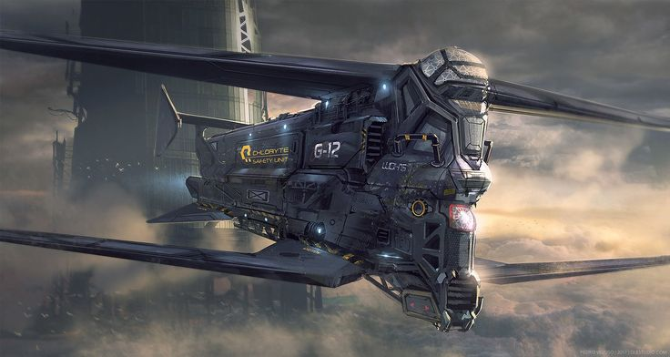 """Chloryte Safety Unit Chopper"" by #PedroVeloso. #sciencefiction #scifi"