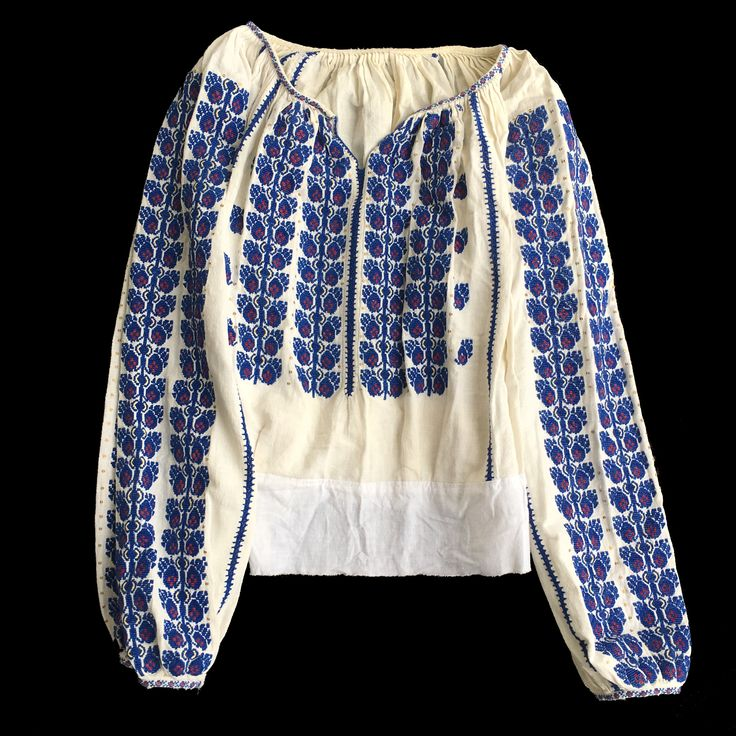 Antique Romanian traditional top blouse