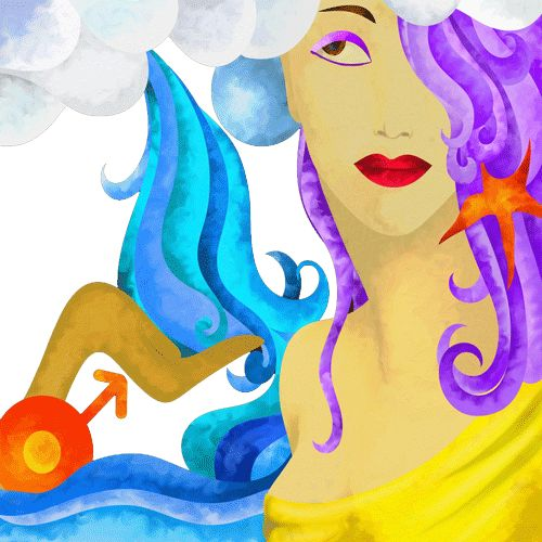 Today's Aquarius Love Horoscope. Free daily zodiac reading, astrological meanings with astrology images and pictures.