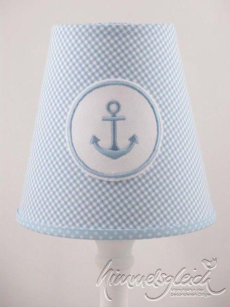 Lampenschirm maritim Anker hellblau von himmelsgleich via dawanda.com