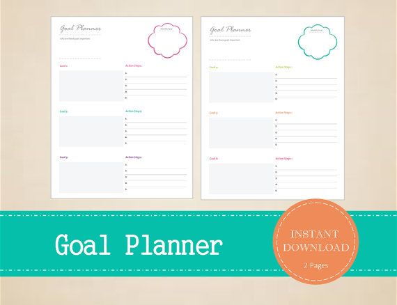 Monthly Goal Planner  Yearly Goal Planner  by MBucherConsulting