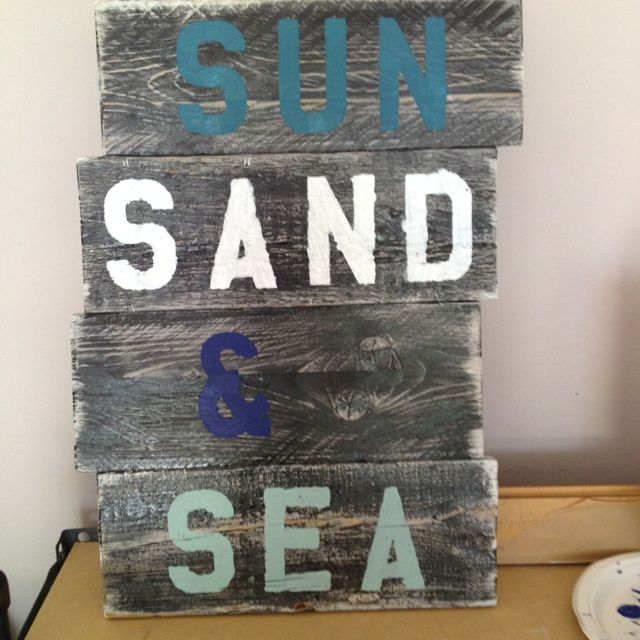 Um YES PLEASE!...Don't forget about the palm trees :-)  Beach decor - DIY