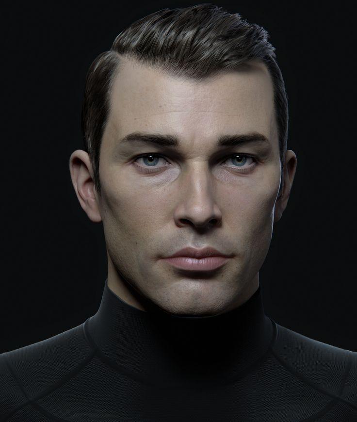 ArtStation - Mr X - Male Character Portrait , Andrei Cristea