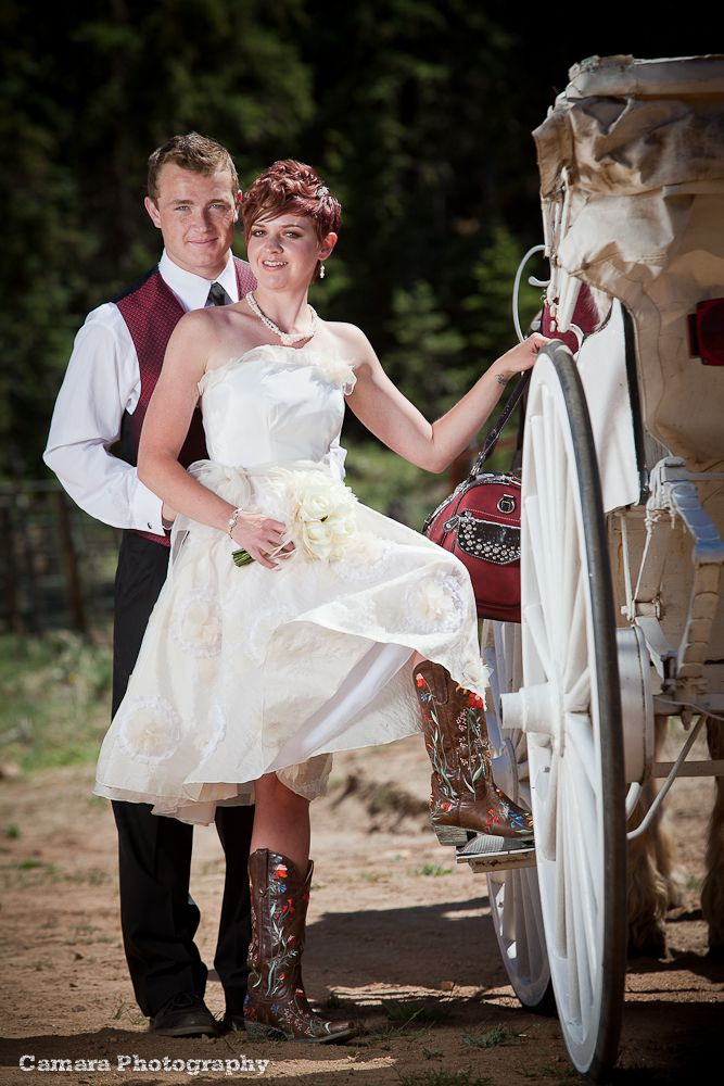 Beautiful wedding dresses with cowboy boots Cowboy Boot at Pine Country Feed