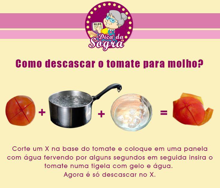 Aprenda como REMOVER A PELE DO TOMATE rapidamente!  Veja mais em nosso blog: http://dicasdacasa.com/dicas-na-cozinha/