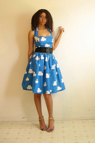 FREE Vintage Style Cloud Dress Sewing Pattern and Tutorial