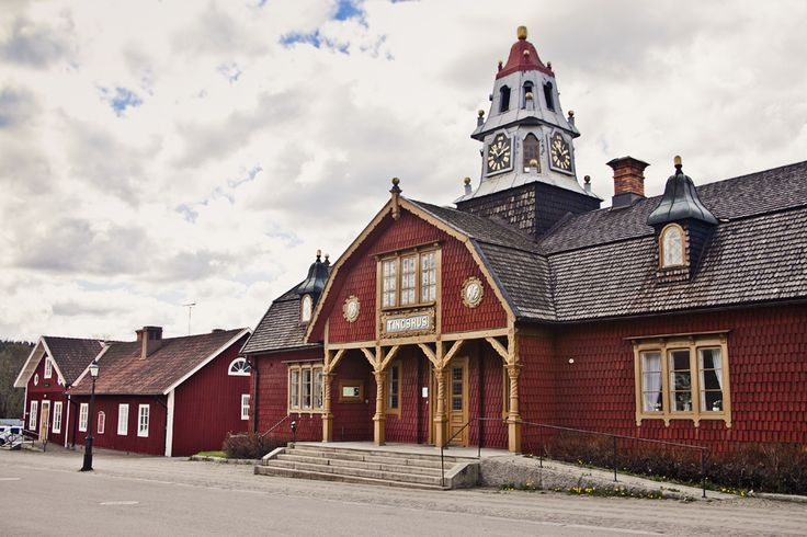 This is the beautiful courthouse of Kopparberg.