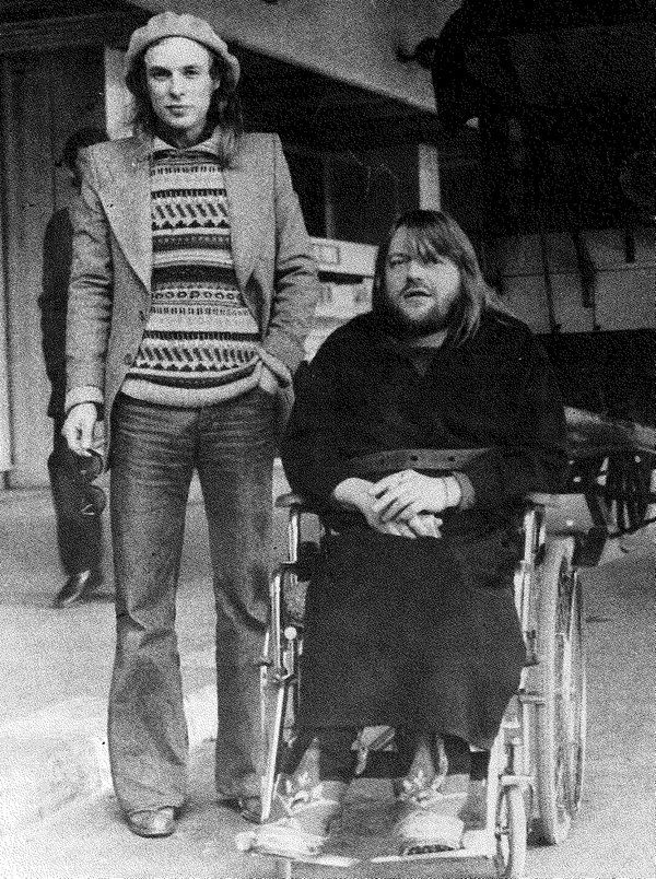Brian Eno and Robert Wyatt, 1974